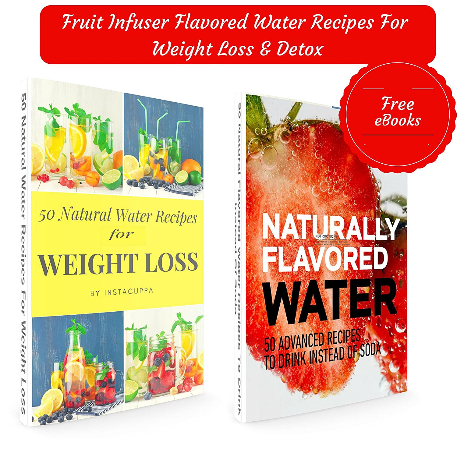 Buy Instacuppa Fruit Infuser Water Bottle 1000ml, Antisweat & Thermo  Sleeve +125 Weight Loss & Detox Water Recipes Ebook Online At Low Prices In  India