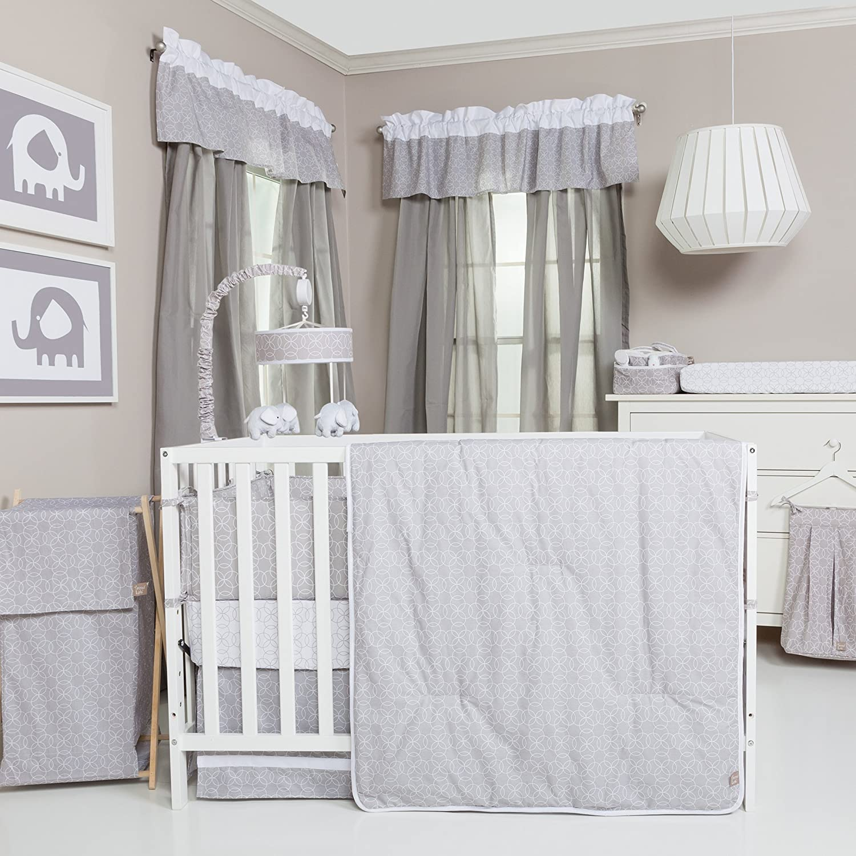 Trend Lab Gray and White Circles Crib Bedding