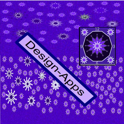 Cracked Purple Snow Stars