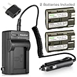 Kastar Battery (2-Pack) and Charger for Canon BP-511, BP-511A, BP511, BP511A and EOS 5D, 10D, 20D, 30D, 40D, 50D, Digital Rebel 1D, D60, 300D, D30, Kiss Powershot G5, Pro 1, G2, G3, G6, G1, Pro90 etc. (Tamaño: 2 batteries + 1 charger)