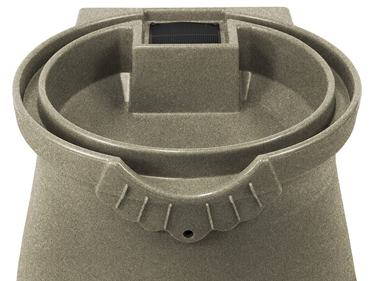 Good Ideas RWURN50-SAN Rain Wizard Rain Barrel Urn, 50 gallon, Sandstone