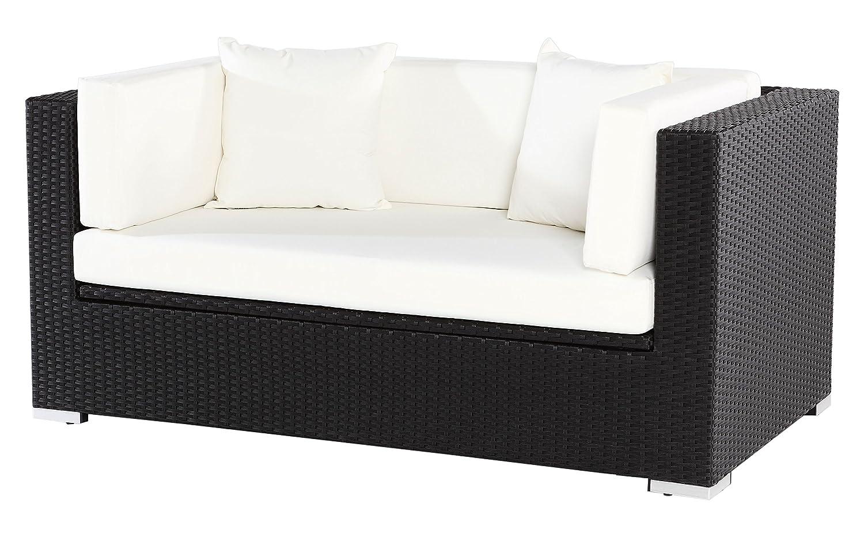 Outflexx Polyrattan Modul 2-Sitzer w1 Box, schwarz