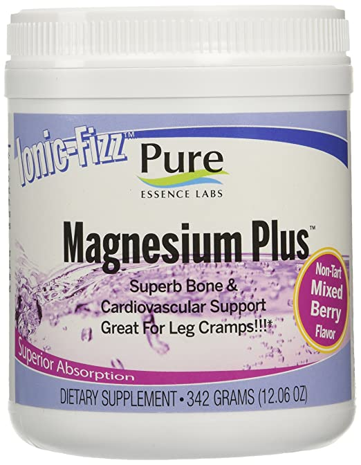 Pure Essence Labs Ionic Fizz Magnesium Plus - Superb Bone & Cardiovascular Support By Pure Essence Labs - Mixed Berry - 342 Grams