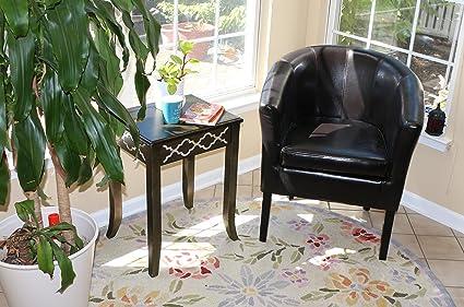 Home Life Armen Linon Black Sofa Arm Club Chairs Bicast Leather Finish Home Life