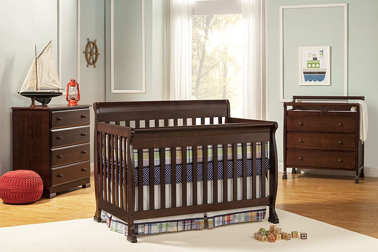 DaVinci Kalani 4-in-1 Convertible Crib with Toddler Rail, Espresso 5