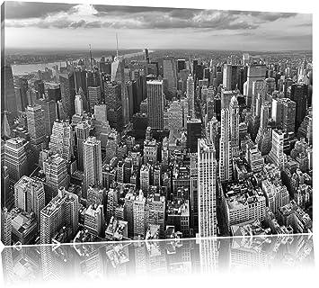 ville de new york york en noir et blanc peinture sur sur toile format xxl support en bois. Black Bedroom Furniture Sets. Home Design Ideas
