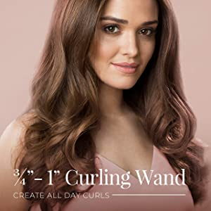 Remington Pro ¾ - 1 Curling Wand with Thermaluxe Advanced Thermal Technology, Purple, CI91WSB (Color: Purple, Tamaño: 3/4-1 Inch)