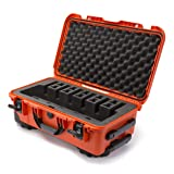 Nanuk 935 Waterproof Professional Gun Case, Military Approved with Custom Foam Insert for 6UP - Orange (Color: Orange, Tamaño: Medium)