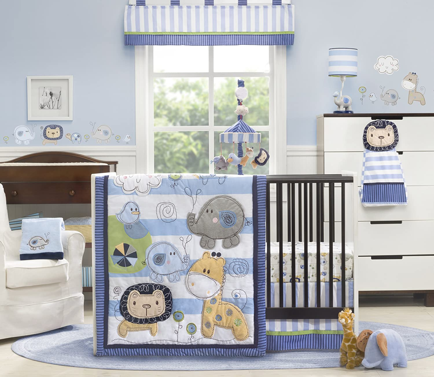 Baby Boy Jungle Cot Bedding