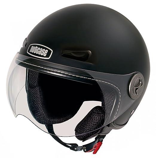 NUTCASE moto nMTO - 3008 pepper casque de moto noir mat