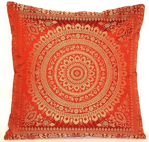 Funda de coj n hecha de seda de banarasi cocida y hecha a for Indische sofas