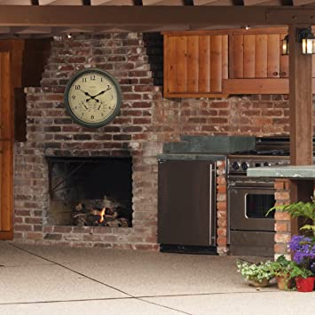 24 Inch Outdoor Thermometer.Sale Acurite 01061 24 Inch Patina Indoor Outdoor Wall