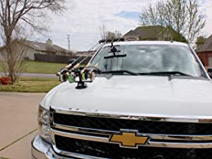 Tight Line Enterprises Magnetic Fishing Rod Racks for Vehicle Truck or SUV with