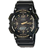 Casio Men's 'Tough Solar' Quartz Stainless Steel and Resin Watch, Color:Black (Model: AQ-S810W-1A3VCF)