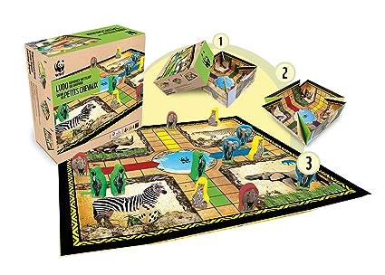 WWF - 981 - Jeu de Société - Les Petits Chevaux du Safari