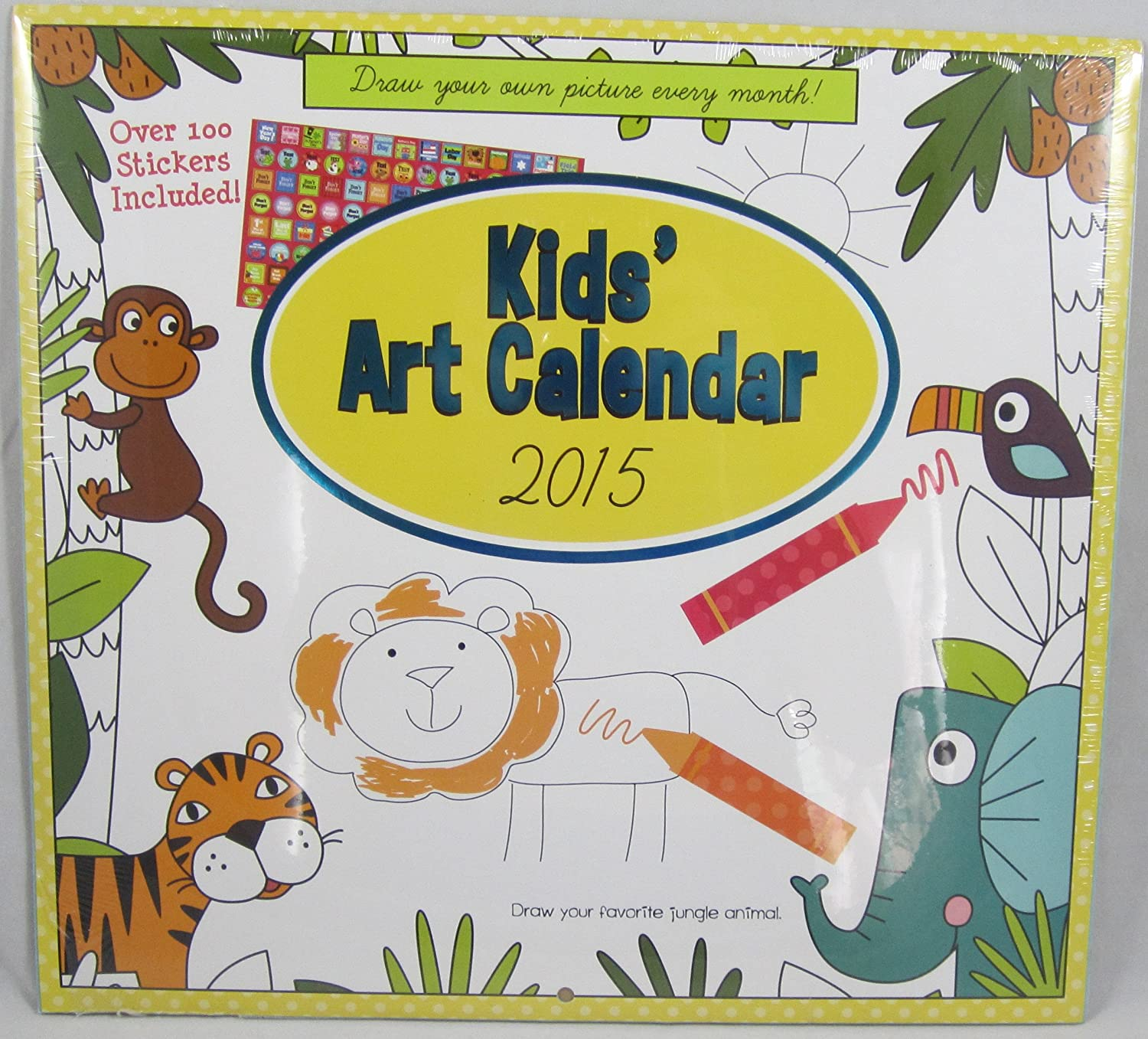 Monthly Calendar Book Month Coloring Book With