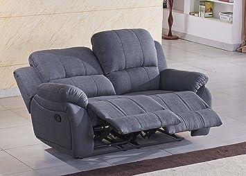 Mikrofaser Relaxsofa Sofa Relaxsessel Fernsehsessel 5129-2-GM