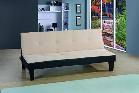 Glory Furniture G114-S Klik Klak Sofa Bed, Beige