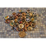 Geocache Mini Glass Trading Stones - 15 Pcs Compass Set