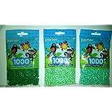 Perler Bead Bag Green Group (Dark Green, Light Green, Pastel Green) (Color: Dark Green, Light Green, Pastel Green, Tamaño: 5mm)