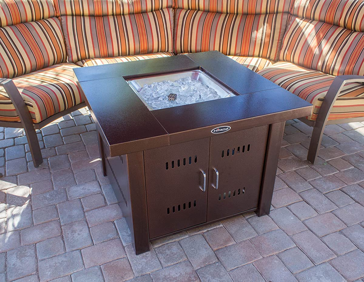 AZ Patio Heaters GS-F-PC Propane Fire Pit, Antique Bronze Finish