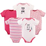 Hudson Baby 5-Pack Hanging Bodysuit, One Of A Kind, 6-9 Months (Color: One of a Kind, Tamaño: 6-9 Months)