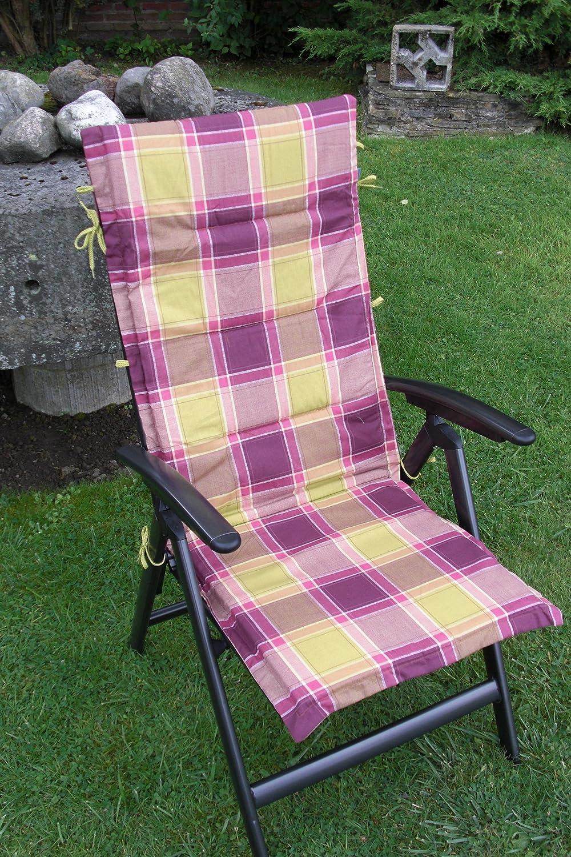Doppler Textilen Hochlehner Niederlehner Auflage A1182, lila grün kariert jetzt bestellen