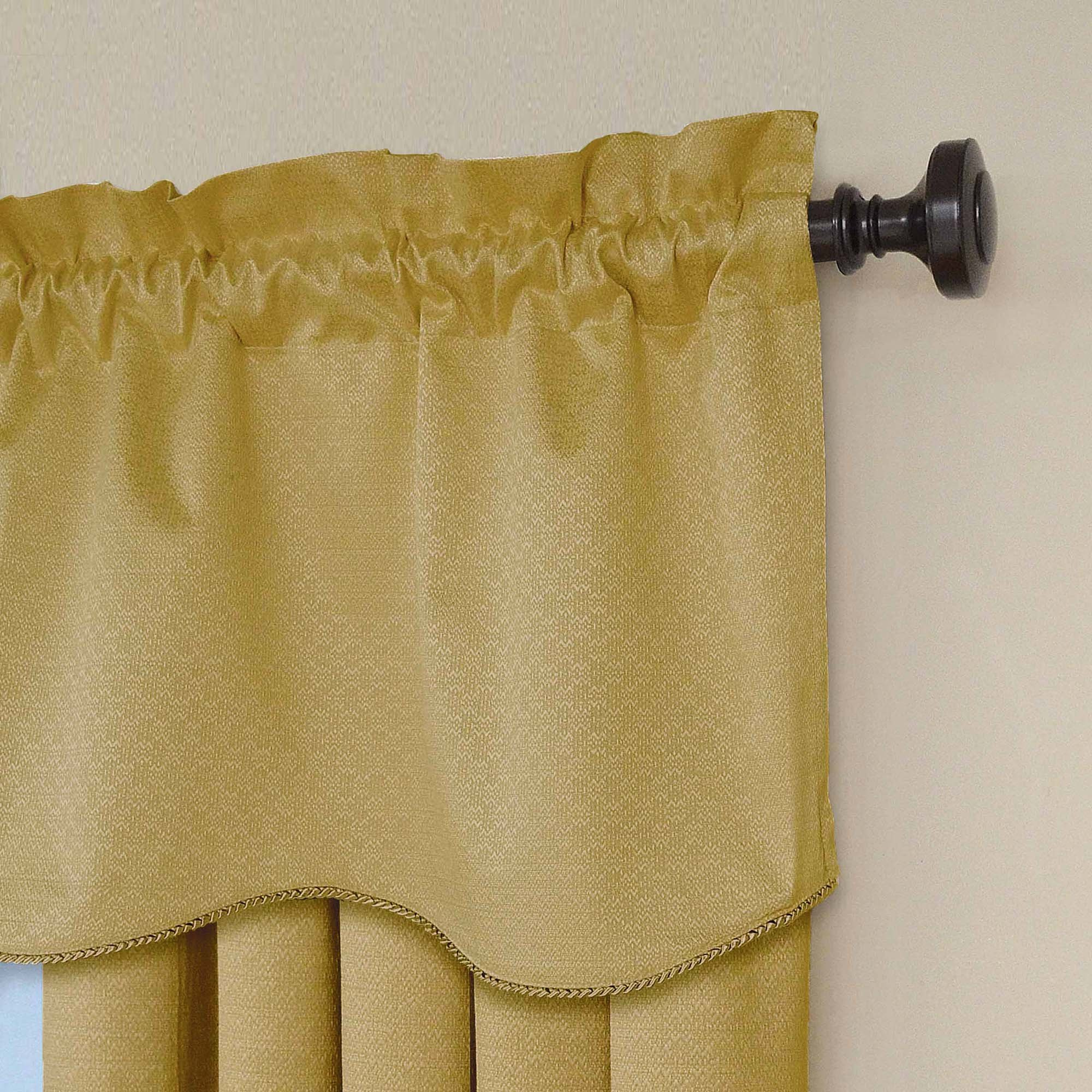 Eclipse Canova 42 inch by 21 inch Thermaback Blackout Scallop Valance ...
