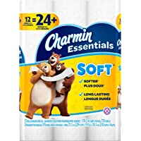 12 Double Rolls of Charmin Essentials Soft Toilet Paper