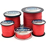 Aorace Braid Fishing Line 10LB Strong and Abrasion Resistant 500M Fiber Material Fishing Line Red Advanced Superline (Color: Red, Tamaño: (500M 547yds) 10LB/0.14MM/4.5KG)