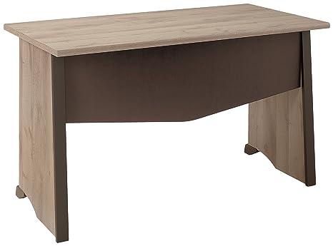 Gami K08014 Mambo Bureau Table Panneaux de Particules Chêne/Chocolat 80 x 140 x 74 cm