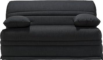 Sitzbank BZ Stoff, grau-anthrazit meliert Sofaconfort Matratze, 140 x 200 cm, Schaumstoff