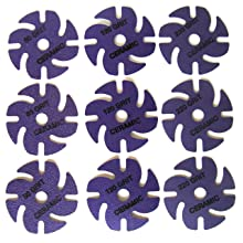 "JoolTool 3M 9-Piece Cubitron Ceramic Purple Abrasive Disc Kit, Ceramic, 3"" Diameter"