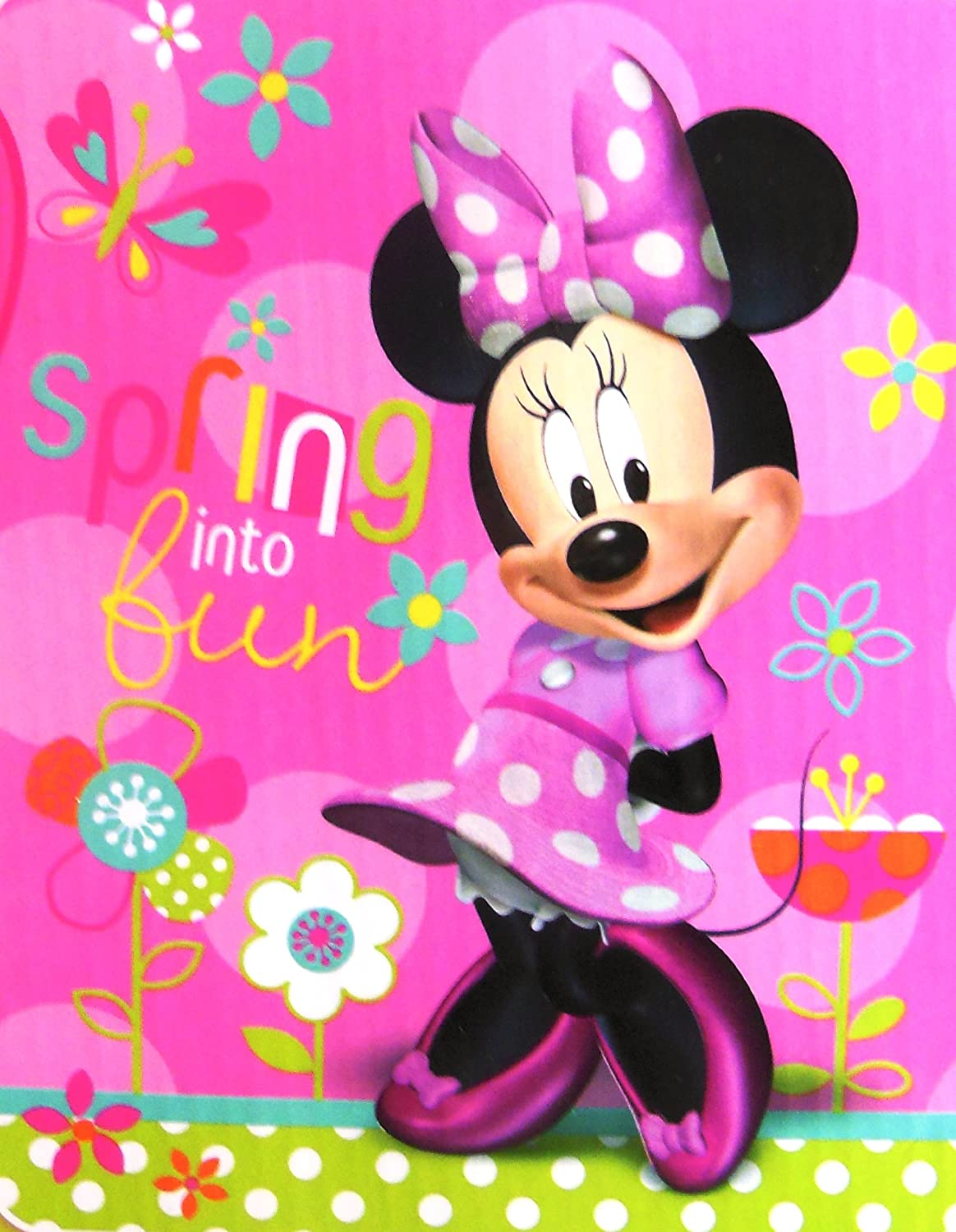 Minnie Mouse Garden Party Micro Sherpa Twin Blanket 60x80