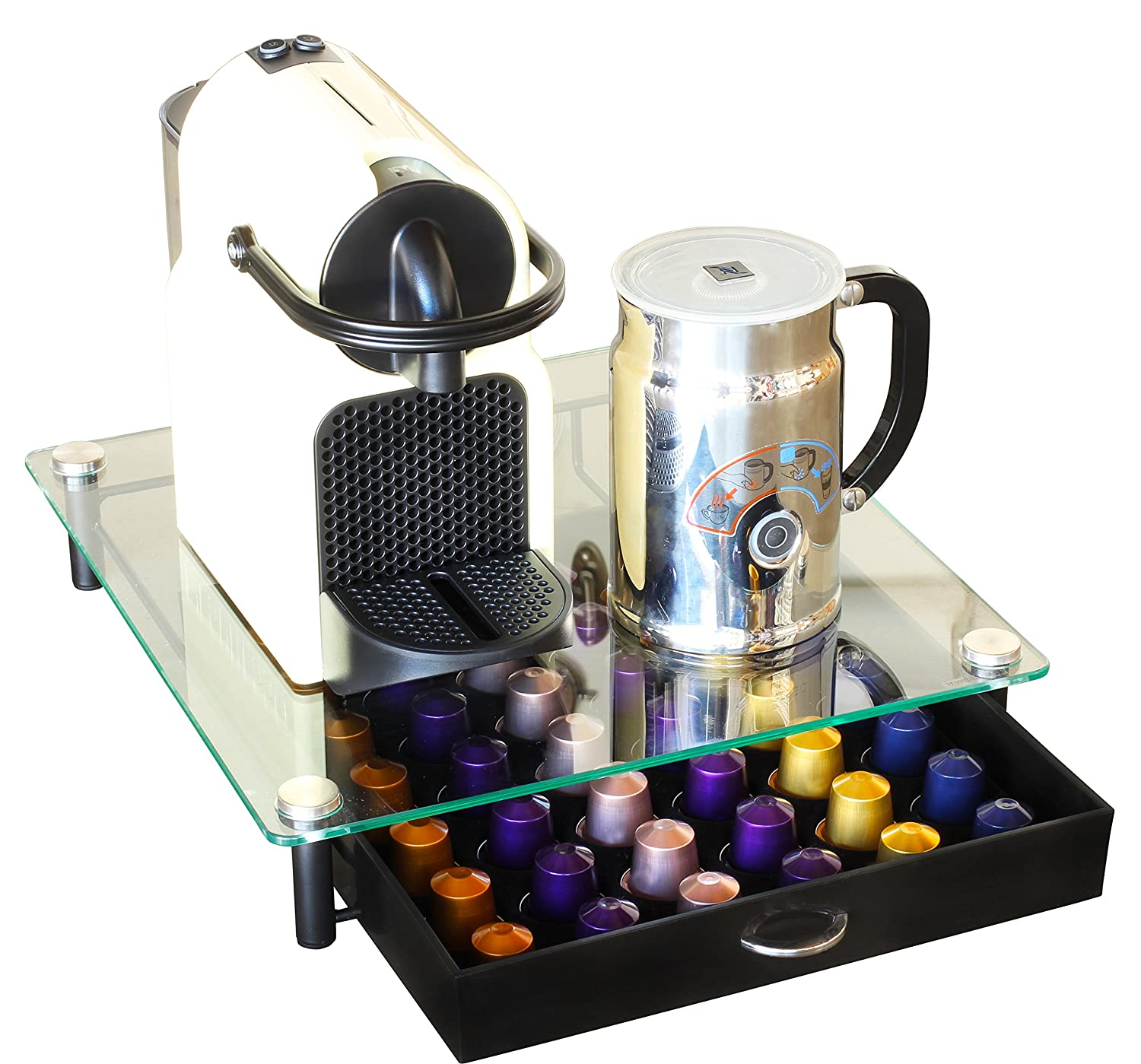 Decobros coffee pod pack storage glass drawer holder organizer nespresso capsule - Rangement capsule nespresso ...