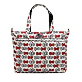 Ju-Ju-Be Hello Kitty Collection Super Be Zippered Tote Diaper Bag, Peek A Bow (Color: Peek A Bow, Tamaño: One Size)