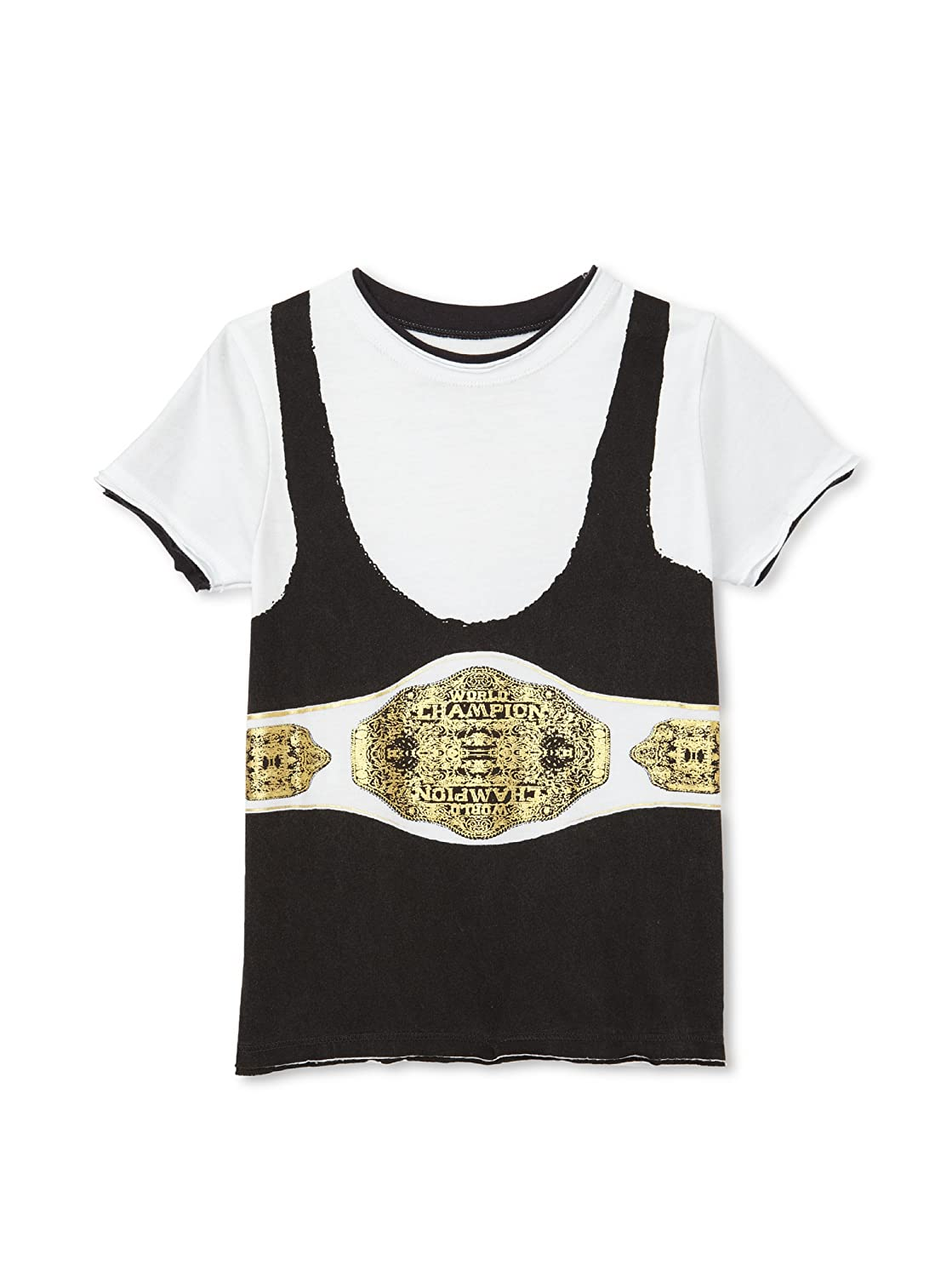 Mini Shatsu Boy's The Champ T-Shirt, White, 8 mini shatsu bat cape long sleeve tee
