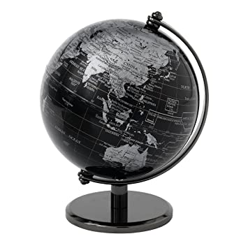 v v globe collection globe globe terrestre noir 13 cm. Black Bedroom Furniture Sets. Home Design Ideas