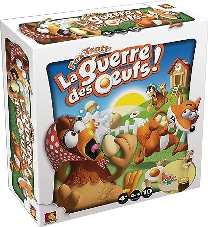 Asmodee Editions - JACT06 - Jeu Educatif - Fox Trott - La Guerre des Oeufs