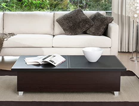 Torrina Modern Coffee Table, with Concealed Storage
