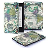 DHZ Case For Kindle Paperwhite - The Lightest Pu Leather Cover for All-New Amazon Kindle Paperwhite (Fits All versions: 2012,2013,2014,and 2015,2016 New 300 PPI) Ancient World Map