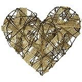 Darice 13311A10 Grapevn Burlap Strip Heart 10In