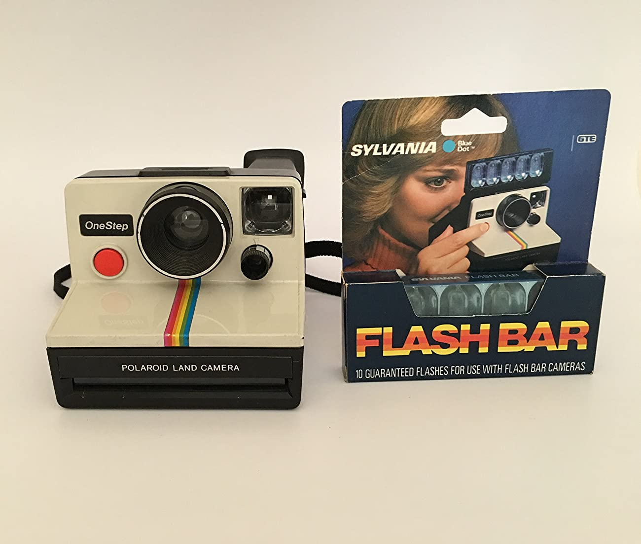 Polaroid OneStep SX-70 White/Rainbow Camera 0