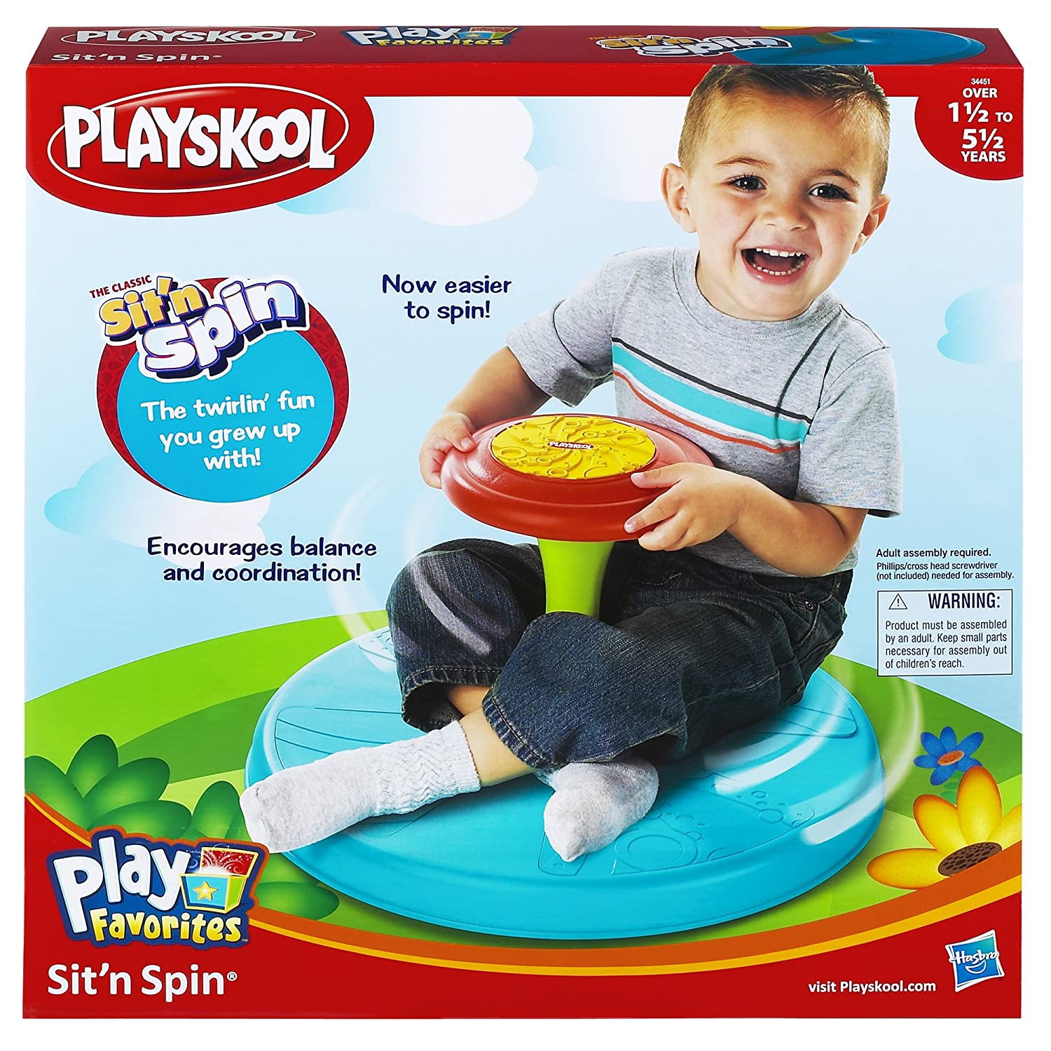 New Spin Toys : Playskool play favorites sit `n spin toy new free shipping