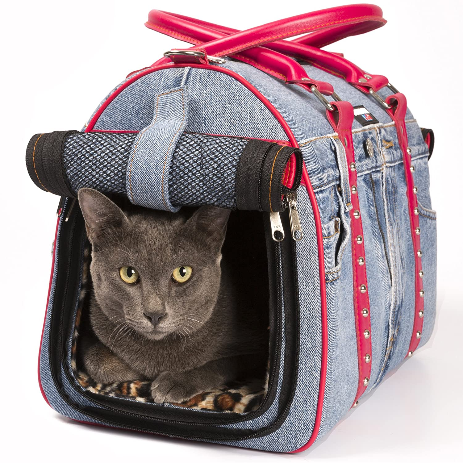 BEST DOG CARRIER – AFFORDABLE DESIGNER PET FASHION : Hand-Crafted Bag, Airline Under Seat Approved Carriers-All Airlines Medium & Small Pets *EXTRA SOFT* Car, Plane, Travel Purse, Tote, Bags for Cat & Dogs : MOST STYLISH & CHIC HANDBAG FOR THE MONEY!