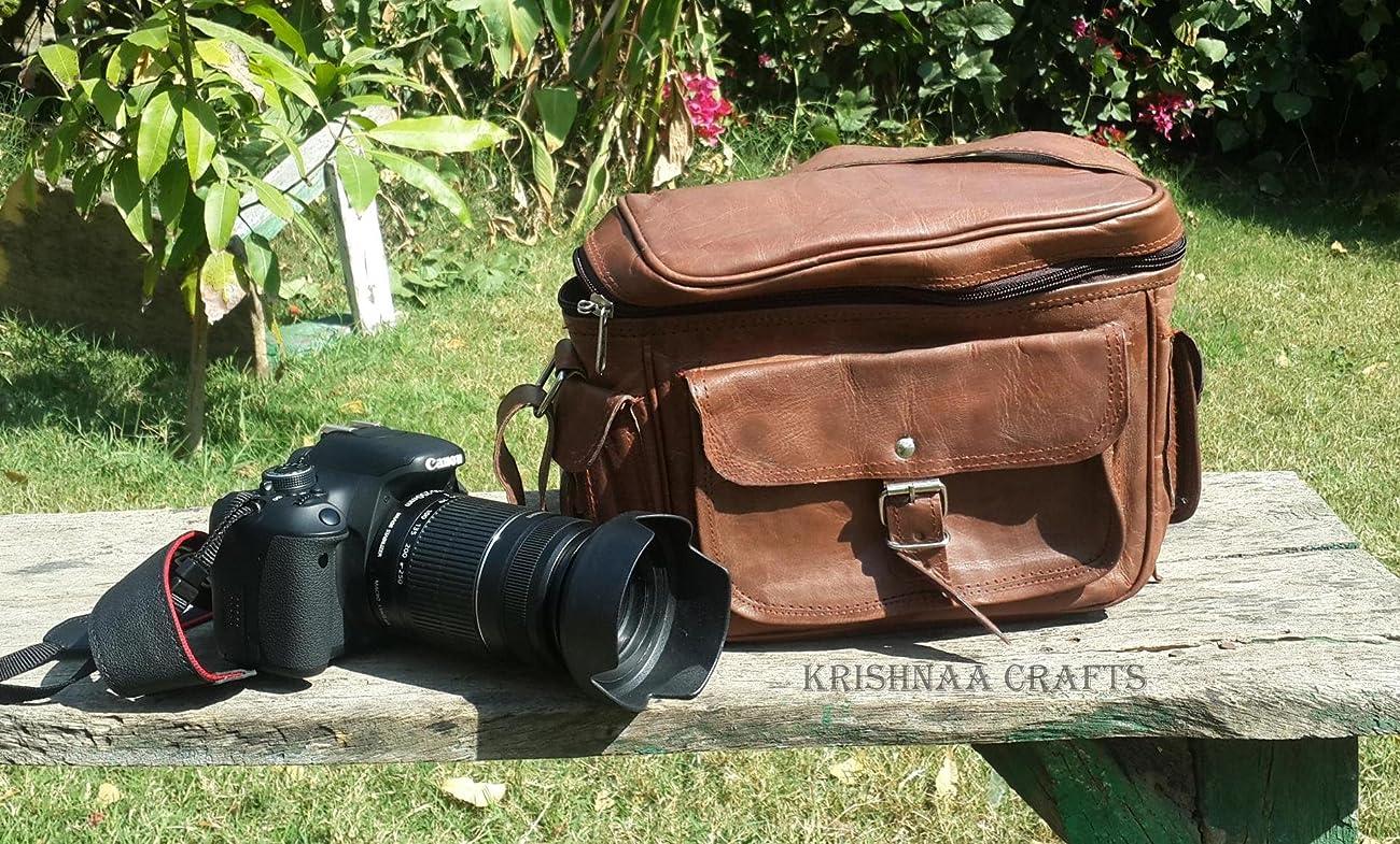 LUST Leather Big Camera DSLR Padded Digital Camera Bag for With Lens Partition 4