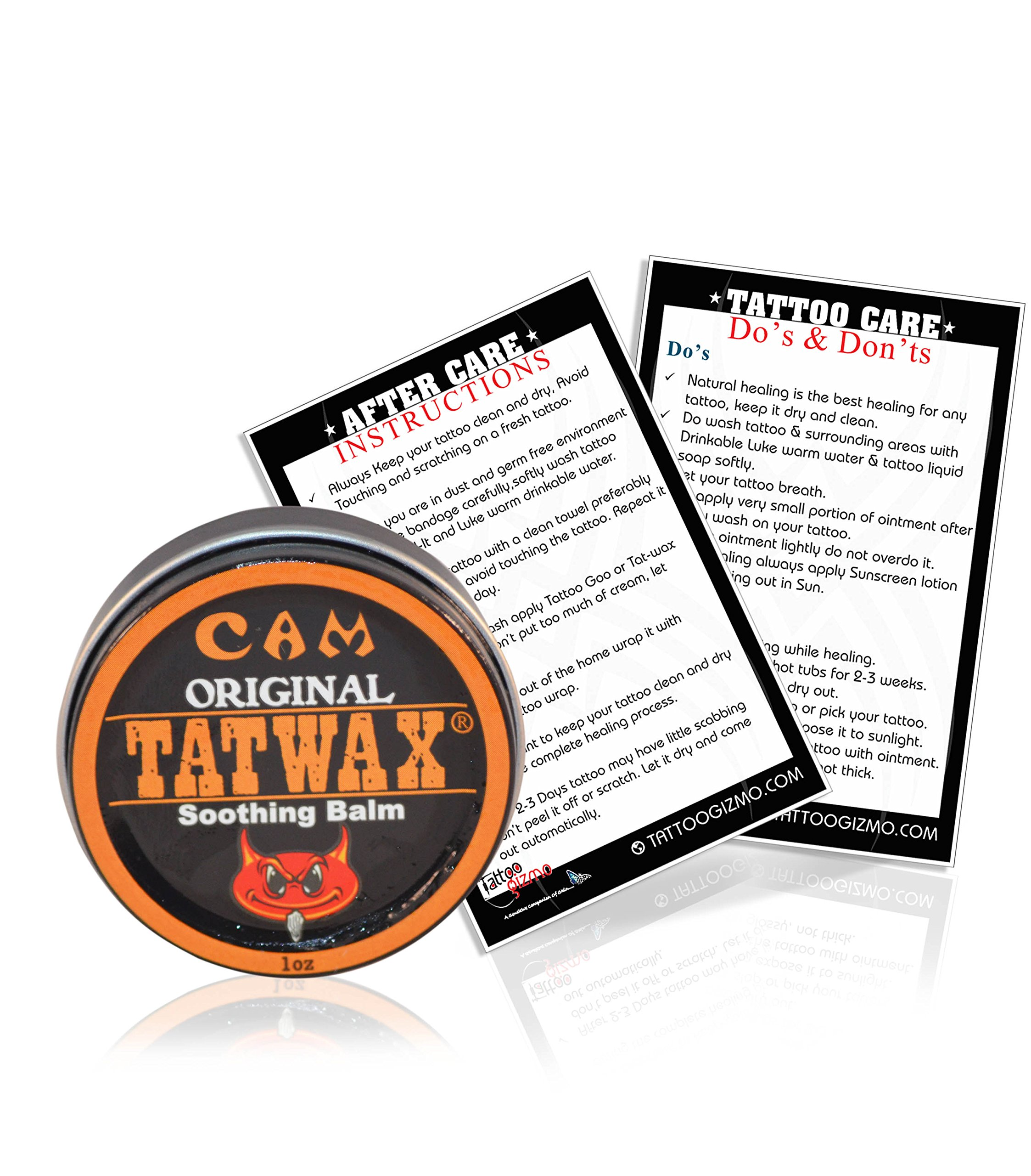 TatWax Tattoo After Care Soothing Balm Tattoo Color Enhancer