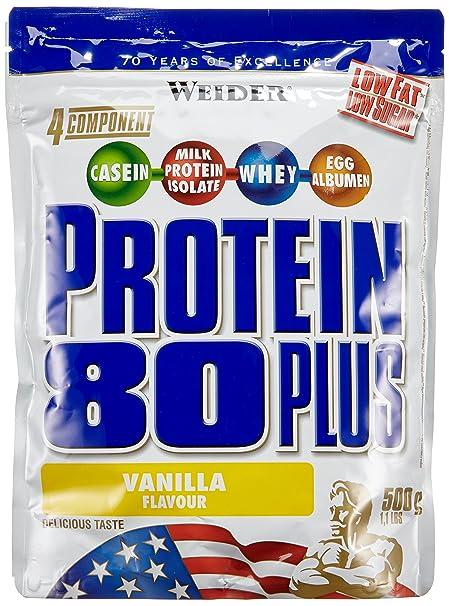 Weider Protein 80 Plus Beutel Doppelpack (2 x 500 g) Vanille, 1er Pack (1 x 1 kg)