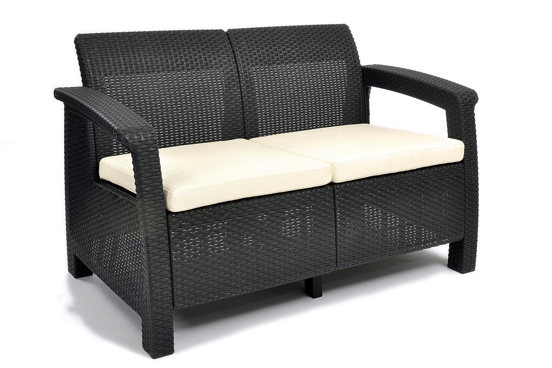 Keter Lounge Sofa Corfu, grau günstig bestellen