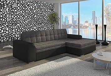 Couch Couchgarnitur Sofa Polsterecke CF05 Ottomane rechts, Soft 11/ Sawana 04 rechts (die Ottomane kann schriftlich kostenlos auf die andere Seite geändert werden) Wohnlandschaft Schlaffunktion Wohnzimmer Kinderzimmer Gästezimmer